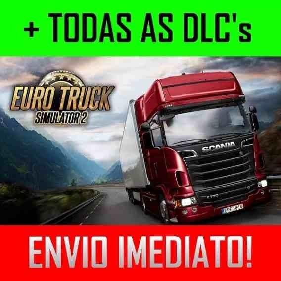 Euro Truck Simulator 2 Jogo Completo +dlcs + Mapa Brasileiro