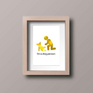 Poster Decorativo - Dog Person