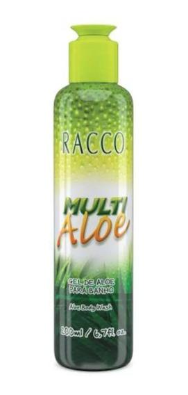 Kit 03 Unid. Gel De Aloe Para Banho Multi Aloe Racco M9 1192