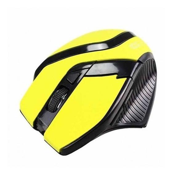 Mouse Gamer Óptico 2400dpi Hardline Ms26-amarelo