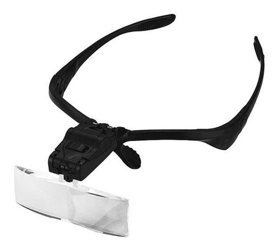 Lupa Óculos Lentes Zoom Costura Dentista Estética Luz Led