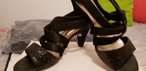 Zapatos De Mujer Taco Bajo. Dos Veces De Uso.