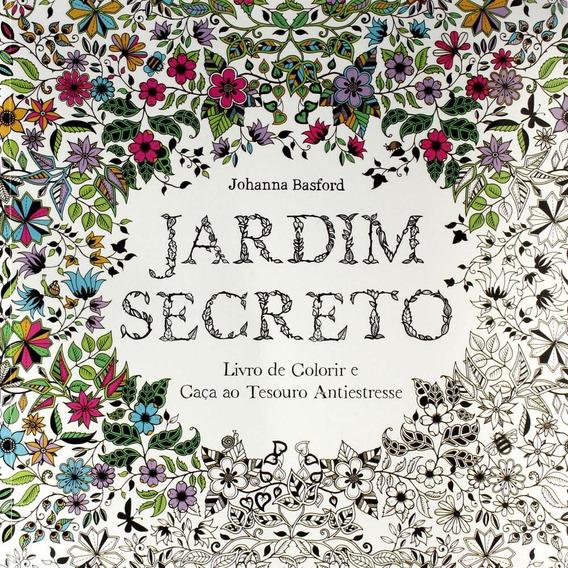 Jardim Secreto Livro De Colorir E Caça Ao Tesouro Antiestres