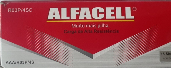Pilha Alfacell Aaa Palito