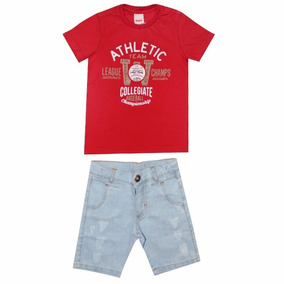 Conjunto Infantil Masculino Camiseta E Bermuda Daya