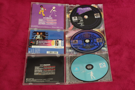 3 Jogos Dance Dance Revolution Originais Playstation 1 Ps1