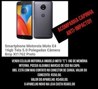 Celular, Motorola, Modelo: Moto E