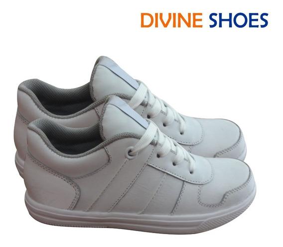 Zapatilla De Cuero Blancas, Zapatillas Escolares De Cuero