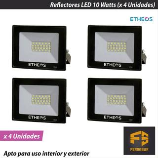 Reflector Led Proyector Etheos 10 Watts X 4 Unidades