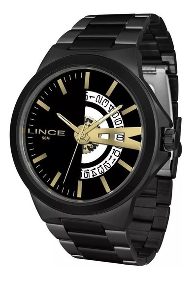 Relógio Lince Masculino Ref: Mrn4575s P1px Casual Black