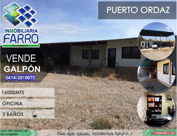 Venta De Galpon En Puerto Ordaz Ve01-0058po-mf