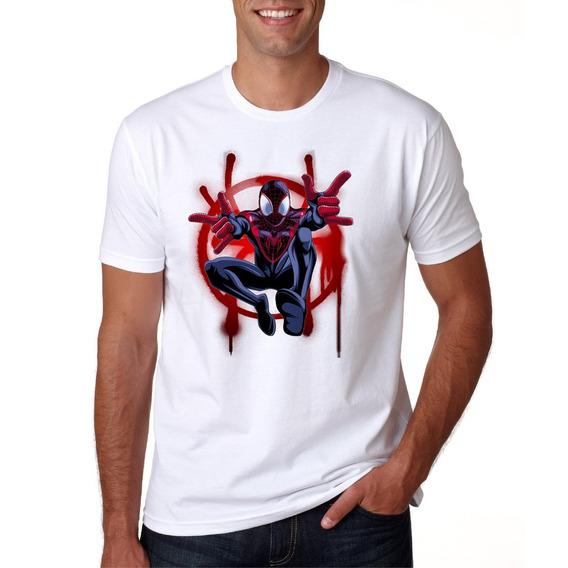 Camisa Masculina Super Herói Homem Aranha Manga Curta