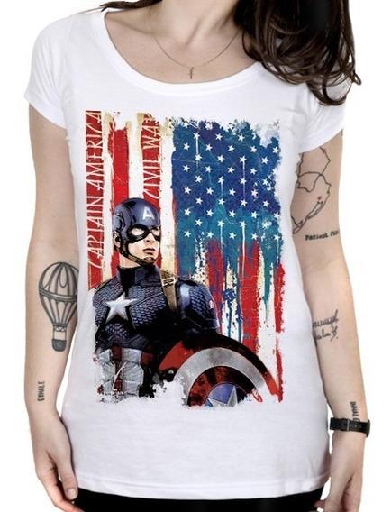 Camiseta Feminina Capitão América - Captain American