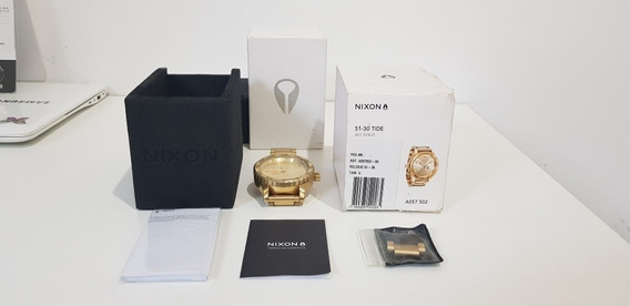 Nixon 51 30 Tide All Gold Usado