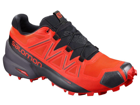 Tenis Salomon Speedcross 5 Goretex Rojo Caballero - Run24.mx