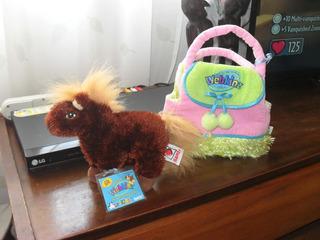 Pony Webkinz Con Bolsa Transportadora