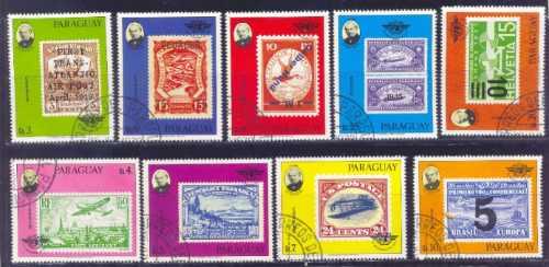 Paraguay 1979 Sellos Famosos Serie Completa Con Aereos
