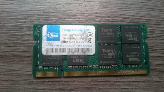 Memória Ram 1gb Ddr2 667 Para Notebook