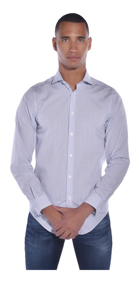 Camisa Calvin Klein Azul 17k4530-424 Hombre