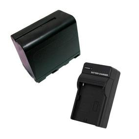 Kit Com Carregador E Bateria Np-f970 Para Iluminadores