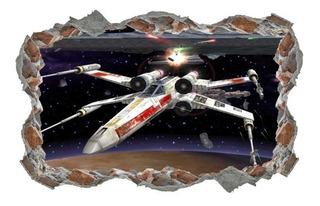 Adesivo Decorativo Parede Quebrada Star Wars Nave