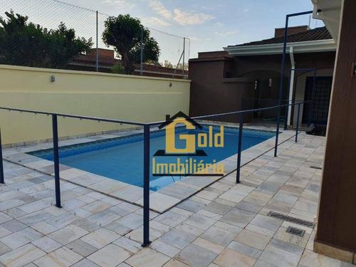 Casa Com 3 Dormitórios 1 Suite, Piscina Sauna No Bairro Jardim Recreio Na Cidade De Ribeirão Preto-s.p. - Ca0911