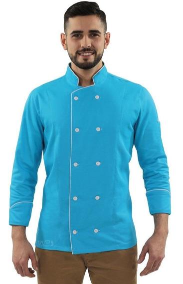 Doma Chef Gambuza Uniforme Cozinheiro Azul Caribe
