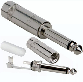 Conector Ficha Plug Ts 1/4 Mono Metal Neutrik Rean Nys201