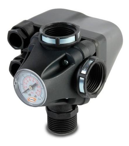 Tee Con Manómetro Y Switch  De Presión Para Bombas 110/220v