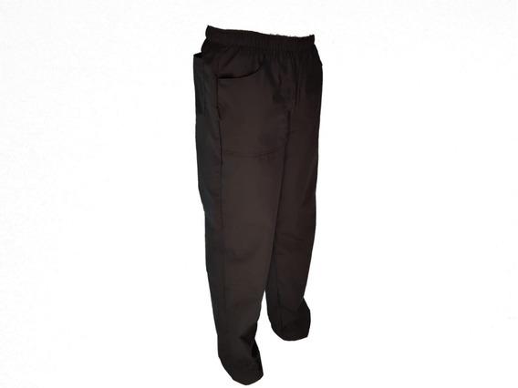 Pantalon Nautico Clasico Negro Acrocel 3 Bolsillos Xl Al 4xl