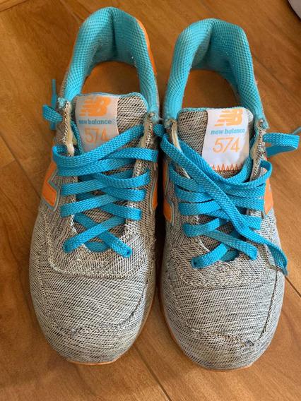 Zapatillas New Balance 574 Mujer Usadas