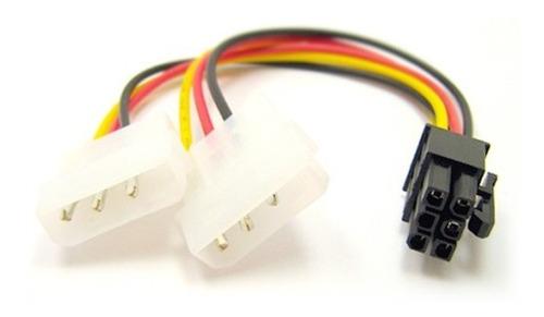Imagen 1 de 1 de Adaptador Cable Power Placa Video 6 Pines A Molex 4 Pines
