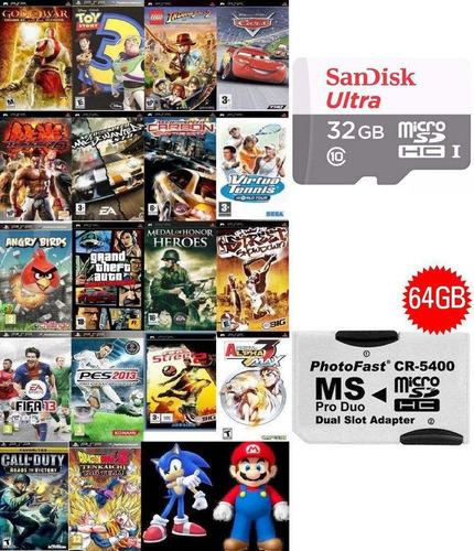 3000 Patch P/jogos Psp + Cartão 32gb Sandisk (classe 10)