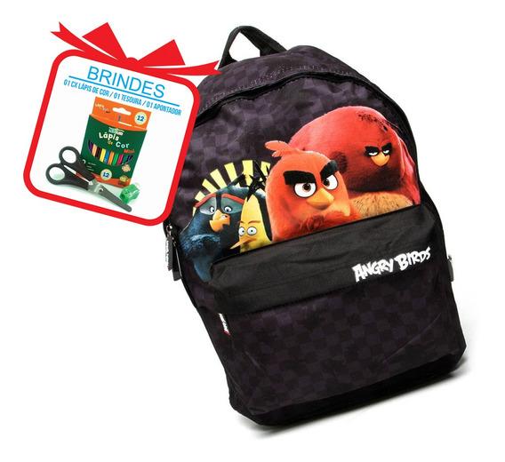 Mochila Infantil Masculina Escolar Angry Birds