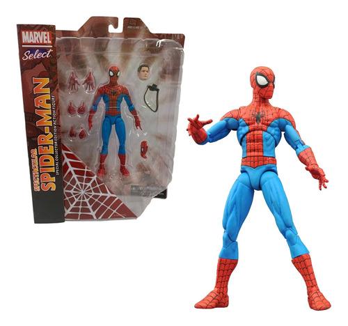 Imagem 1 de 4 de Figura Spider Man Spetacular Marvel Select Diamond