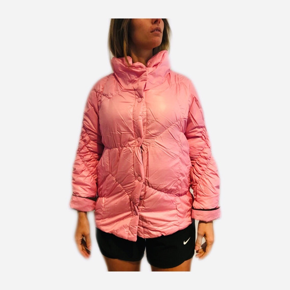 Campera Mujer Inflable Importada Poliester Verde Rosa O Gris