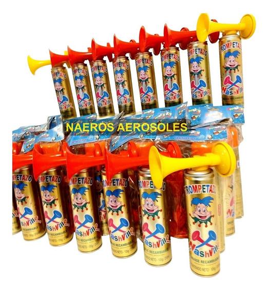 Trompetas Cornetas De Cotillon Combo Bocina Aerosol De Aire