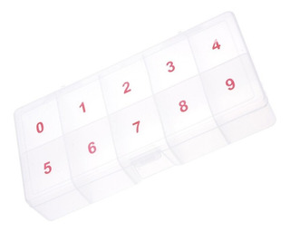 2 X 5 Cajas De Plástico Transparente Para Uñas De Arte De La