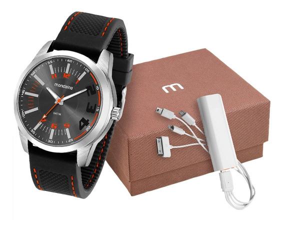 Relógio Mondaine Masculino Analógico Prata + Brinde