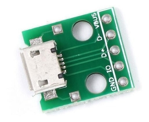 10 Peças Adaptador Micro Usb Para Dip Pci