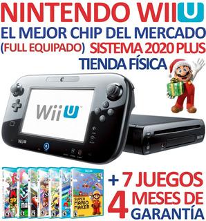 Excelente Consola Nintendo Wii U + Chip + 7 Títulos Y Más