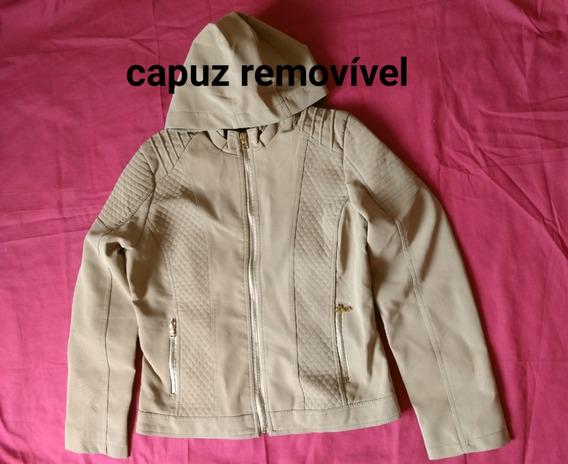 Jaqueta,couro Ecológico,capuz,blusa, Agasalho,frio,casaco