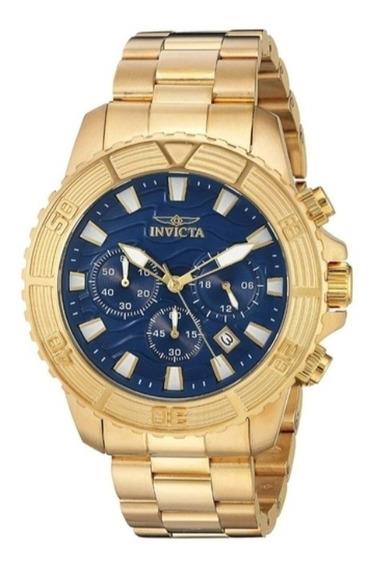 Relógio Invicta Masculino Pro Diver 24001 Banhado Ouro 18k