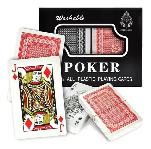 Baraja Cartas Juego Poker Plastificadas Lavable Trucos