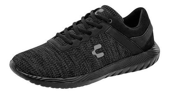 Charly Sneaker Deporte Niño Negro Textil Textura C64009 Udt