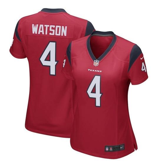 Camisa Feminina Houston Texans Watson 4 Pronta Entrega