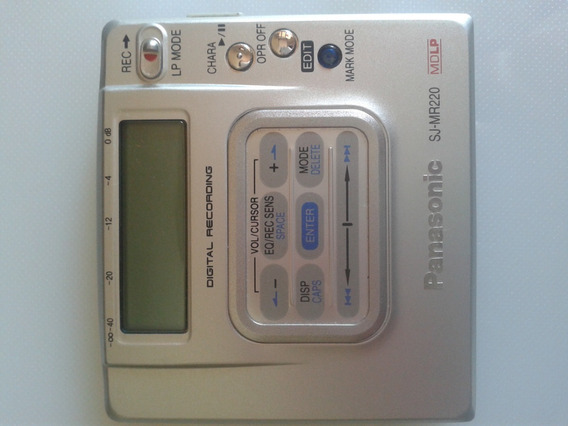 Portable Md Recorder Panasonic Sj-mr220