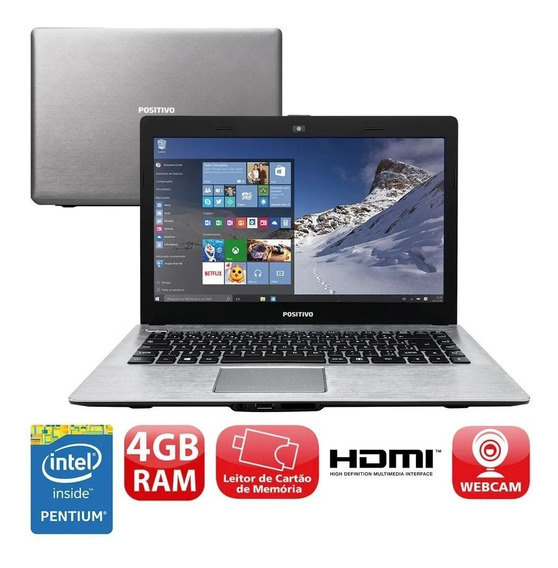 Notebook Positivo Intel 4gb Wifi Bluetooth Hdmi Win10 Novo