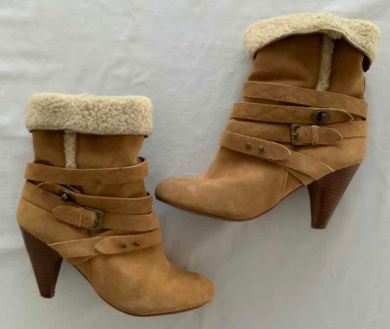Nine West. Botas Gamuza Marrón. Talle 38