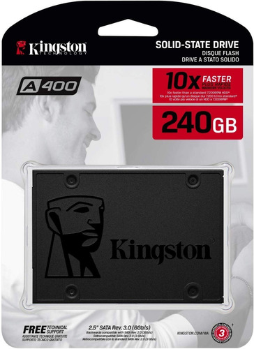 Disco Duro Ssd 240gb Veloz 500mbs Laptop Kingston A400 Sata3